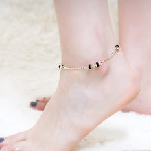 Load image into Gallery viewer, Charlotte 14K Gold Black Swarovski Crystal Ankle Bracelet