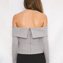 Load image into Gallery viewer, Off Shoulder Crop Top
