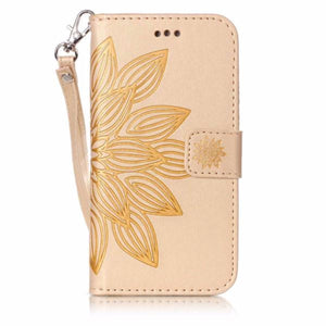 Fashion 3D Embossed Flower Card Holder Flip Case For iPhone 8 , 8Plus, 7, 7 Plus