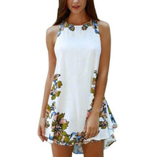 Load image into Gallery viewer, Summer Sleeveless One Piece Floral Mini Dress