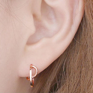 Zoie Small Hoop Earrings with 14K Gold Pin