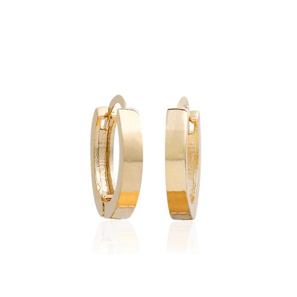 Leyla Small Hoop Earrings with 14K Gold Pin