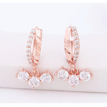 Load image into Gallery viewer, Luciana Double Hoop Earrings with 14K Rose Gold Pin