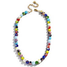 Load image into Gallery viewer, Candice Layered Multi-Color 2 PC Layered Necklace