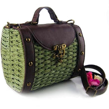 Load image into Gallery viewer, Womens Vintage Look Wicker Straw Handbag