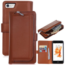 Load image into Gallery viewer, 2 in 1 Leather Flip Waller Card Holder Case For iPhone and Samsung Galaxy
