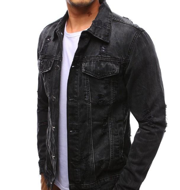 Mens Distressed Denim Jacket