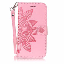 Load image into Gallery viewer, Fashion 3D Embossed Flower Card Holder Flip Case For iPhone 8 , 8Plus, 7, 7 Plus