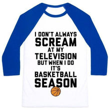 Load image into Gallery viewer, BASKETBALL SEASON UNISEX CLASSIC BASEBALL TEE