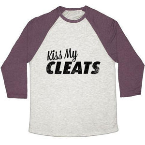 KISS MY CLEATS UNISEX TRI-BLEND BASEBALL TEE