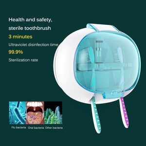 Wall-Mounted UV Light Toothbrush Sanitizer Box