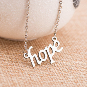 Smile and Hope Pendant Necklace