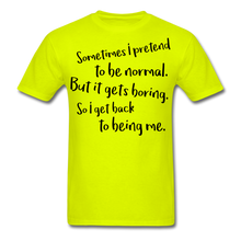 Load image into Gallery viewer, Normal -Men's T-Shirt - safety green