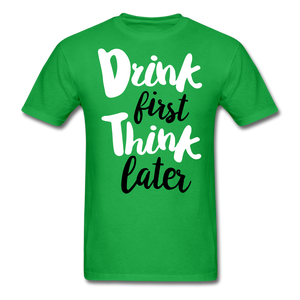 Drink First-Men's T-Shirt - bright green