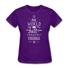 Load image into Gallery viewer, Our World-Women's T-Shirt - purple