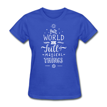 Load image into Gallery viewer, Our World-Women's T-Shirt - royal blue