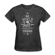 Load image into Gallery viewer, Our World-Women's T-Shirt - heather black