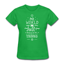 Load image into Gallery viewer, Our World-Women's T-Shirt - bright green