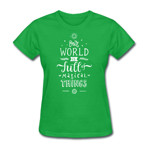 Our World-Women's T-Shirt - bright green