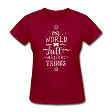Load image into Gallery viewer, Our World-Women's T-Shirt - dark red