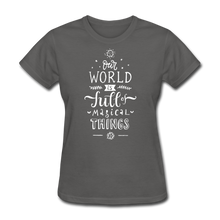 Load image into Gallery viewer, Our World-Women's T-Shirt - charcoal