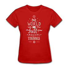 Load image into Gallery viewer, Our World-Women's T-Shirt - red