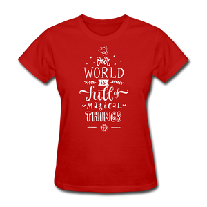 Our World-Women's T-Shirt - red