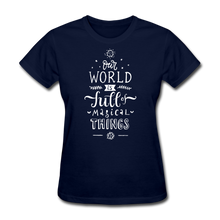 Load image into Gallery viewer, Our World-Women's T-Shirt - navy