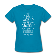Load image into Gallery viewer, Our World-Women's T-Shirt - turquoise