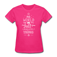 Load image into Gallery viewer, Our World-Women's T-Shirt - fuchsia
