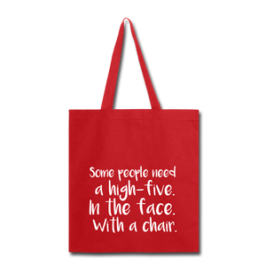 Some People-Tote Bag - red