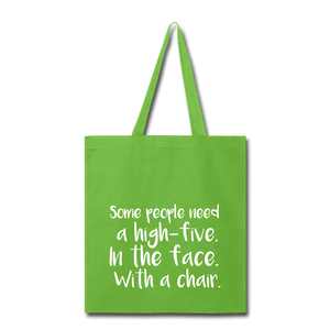Some People-Tote Bag - lime green
