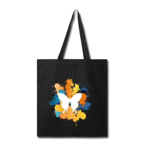 Painted Butterfly-Tote Bag - black