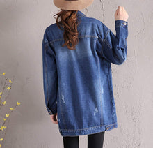Load image into Gallery viewer, Womens Mid Length Denim Jacket