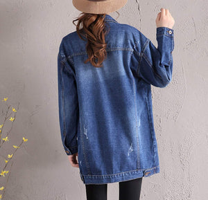 Womens Mid Length Denim Jacket