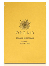 Load image into Gallery viewer, ORGAID Organic Sheet Mask: VITAMIN C & REVITALIZING Single Sheet