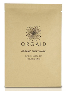 ORGAID Organic Sheet Mask: GREEK YOGURT & NOURISHING Single Sheet