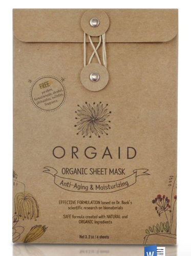 ORGAID Organic Sheet Mask: ANTI-AGING & MOISTURIZING Pack of 4 Sheets