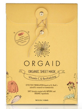 Load image into Gallery viewer, ORGAID Organic Sheet Mask: VITAMIN C & REVITALIZING Pack Of 4 Sheets