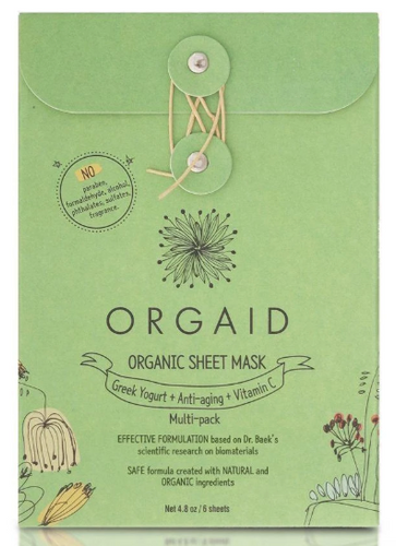 ORGAID Organic Sheet Mask MULTI-PACK of 6 Sheets