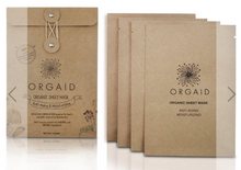 Load image into Gallery viewer, ORGAID Organic Sheet Mask: ANTI-AGING & MOISTURIZING Pack of 4 Sheets