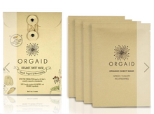 Load image into Gallery viewer, ORGAID Organic Sheet Mask: GREEK YOGURT & NOURISHING Pack of 4 Sheets