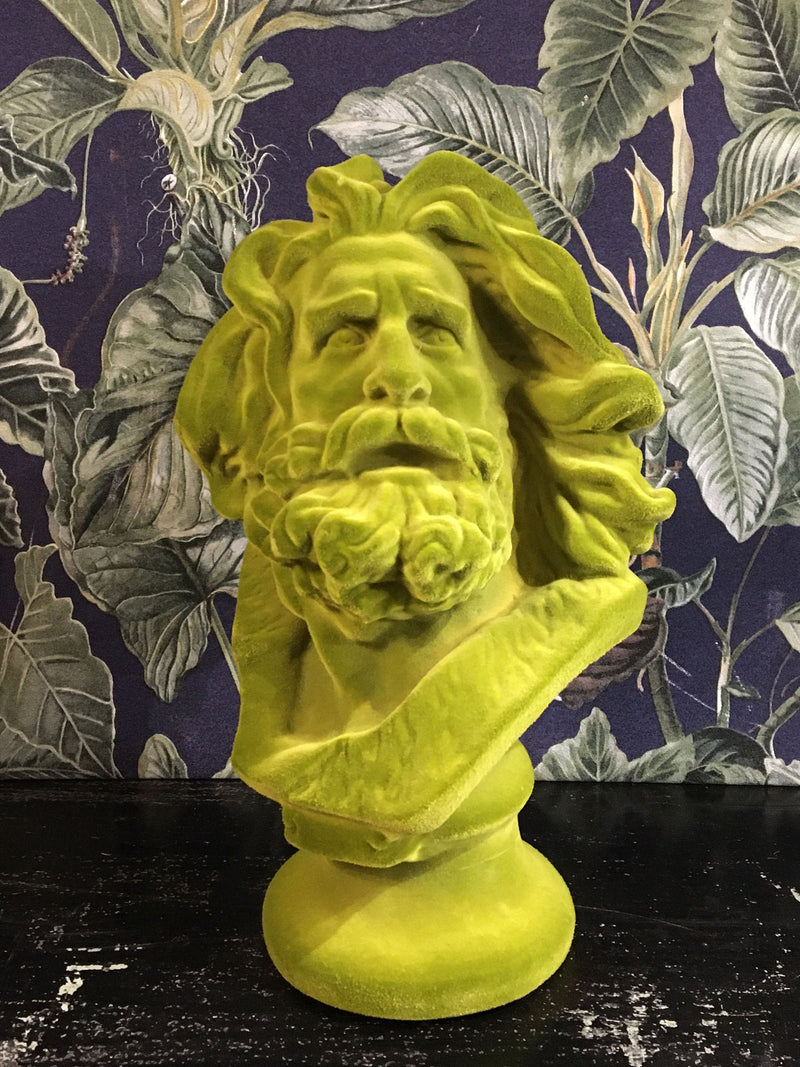 Fabulous Flocked Marseillaise Bust - Green