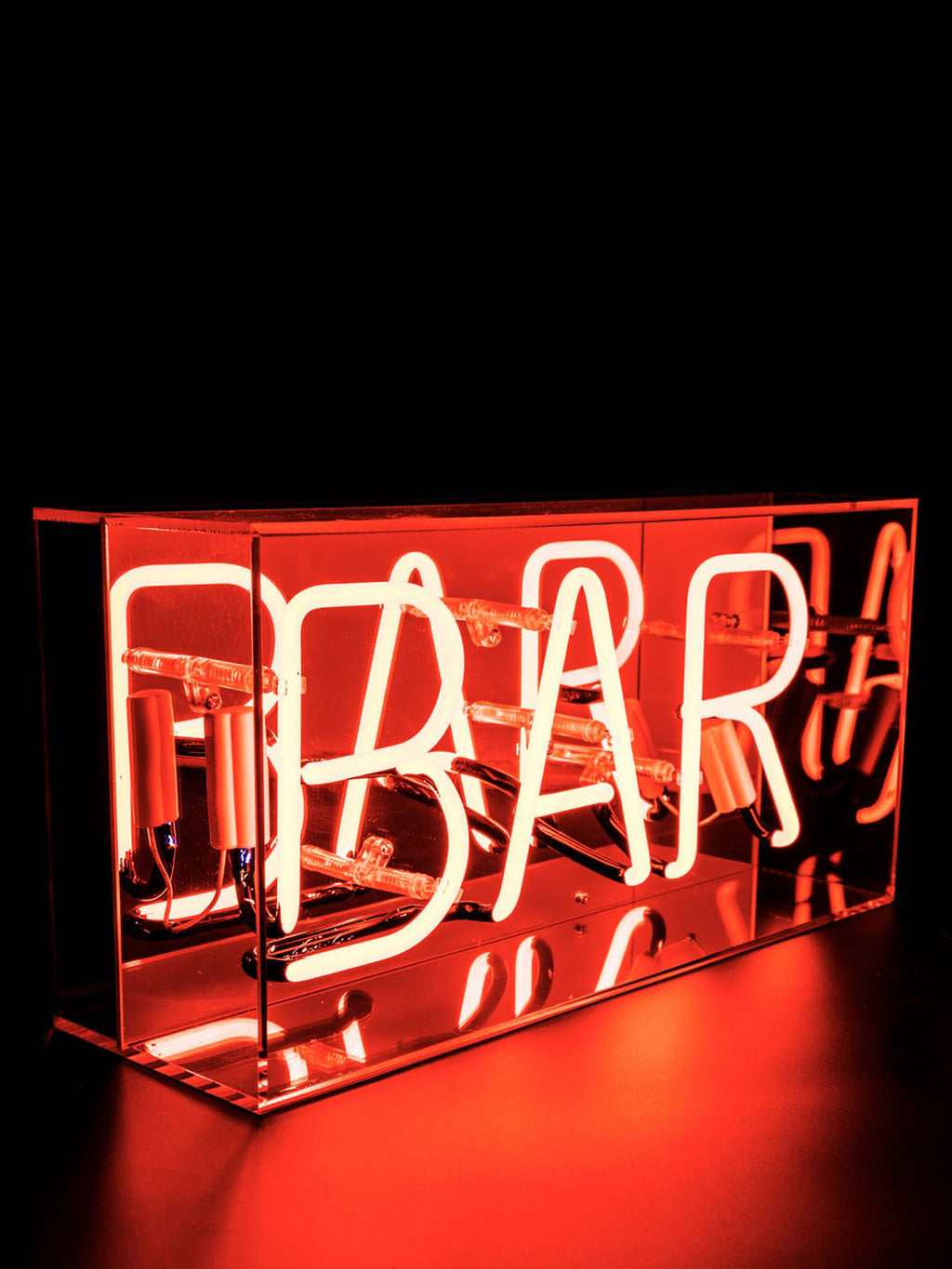 'Bar' Acrylic Neon Light Box