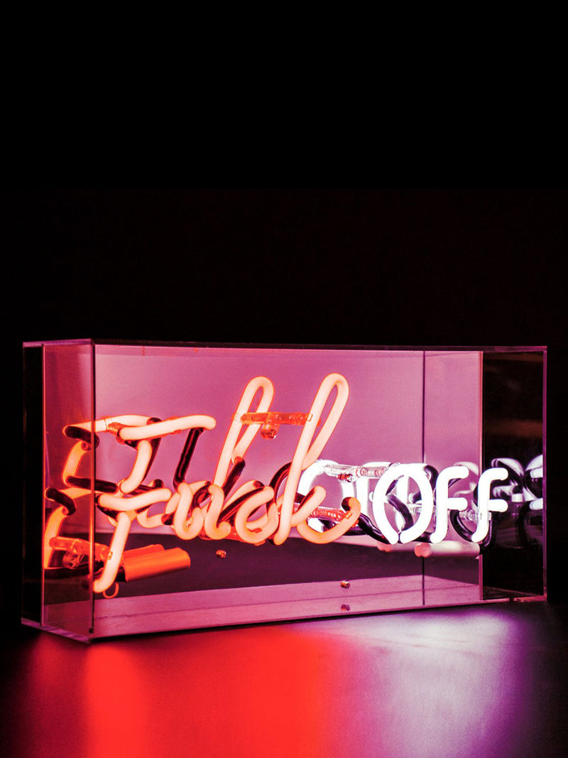 'F**K Off' Acrylic Neon Light Box