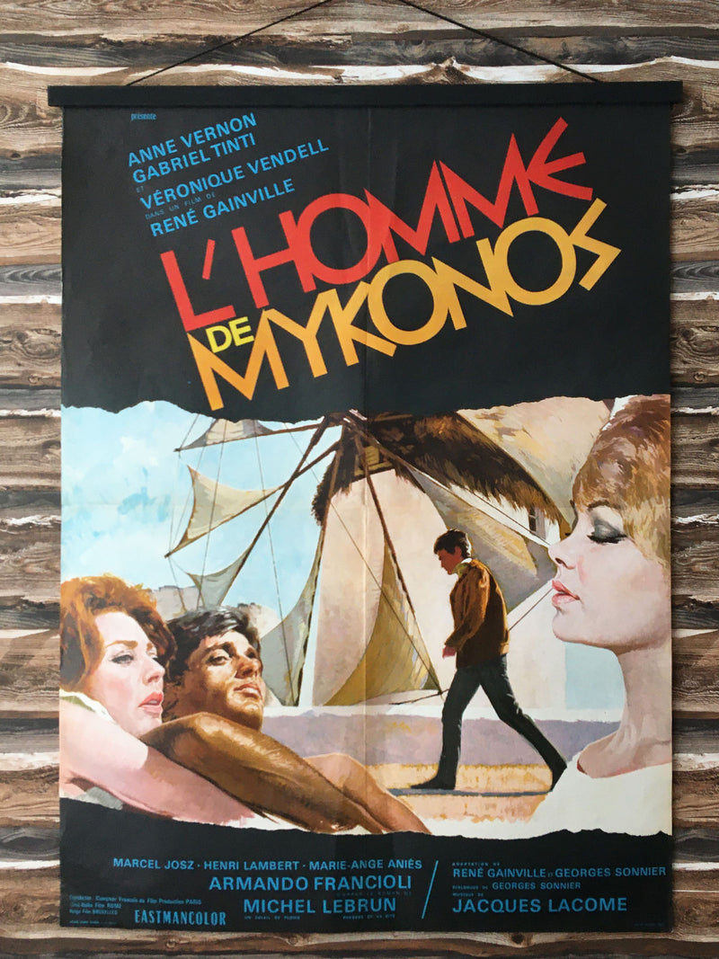 Original French Movie Poster - L'Homme de Mykonos