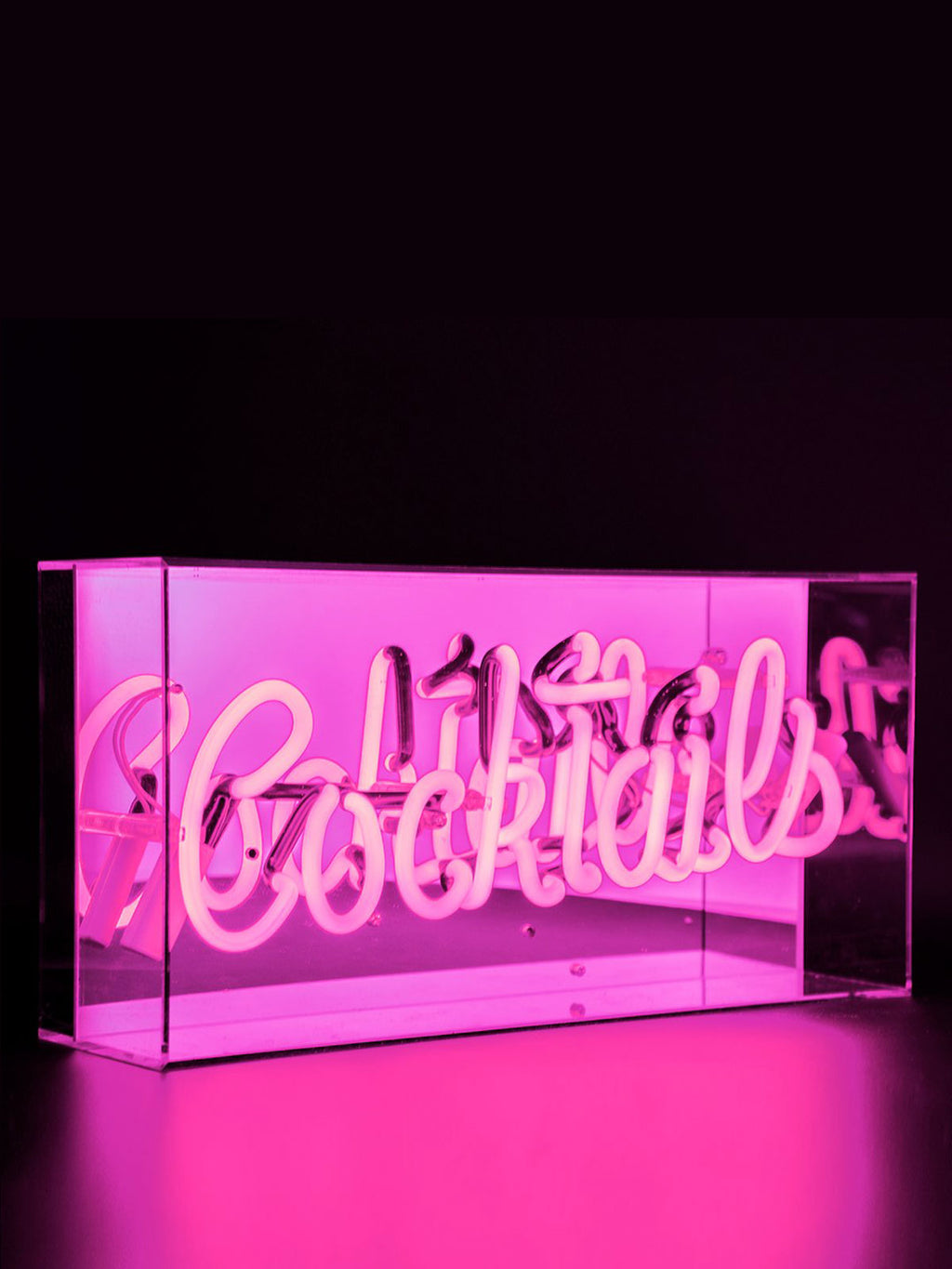 'Cocktails' Acrylic Neon Light Box