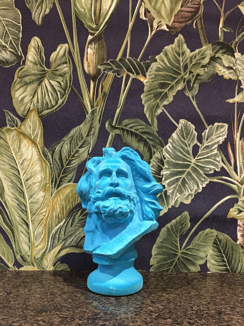 Fabulous Mini Flocked Marseillaise Bust - Aqua