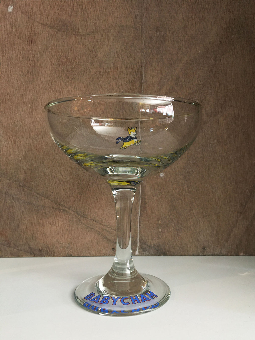 Vintage Babycham Coupe Glass