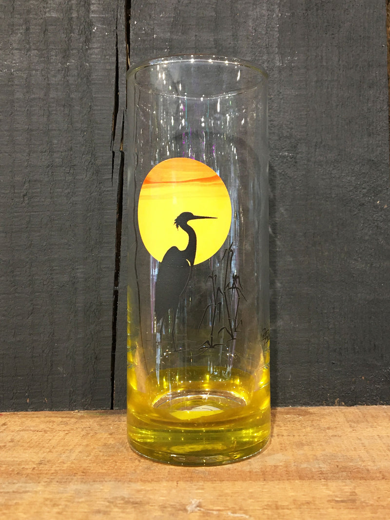Vintage Panache Heron Tree Hi-Ball Glass